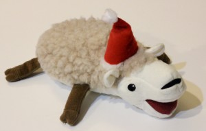 Christmas Sheep from December Pet Treater Box - The Homespun Chics