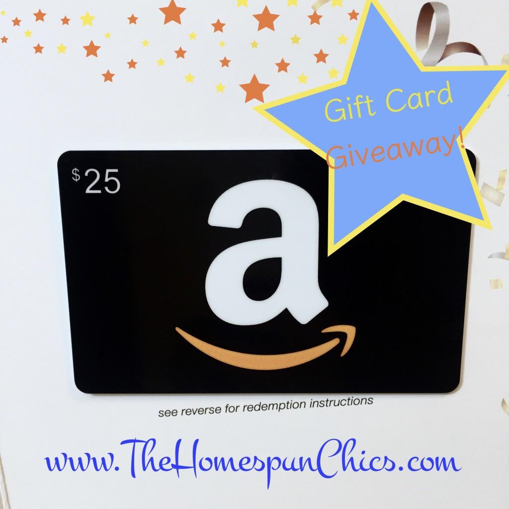 2016.01 Amazon Gift Card 25 - The Homespun Chics