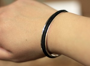 Silver Cuff with hair tie