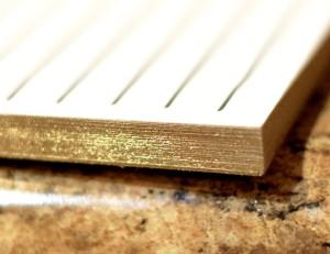 Parrott Design Notepad gold edges