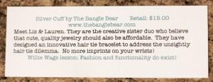 The Bangle Bear info sheet
