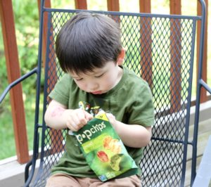 Little G getting down on some popchips