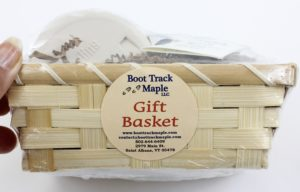 Boot Track Maple Gift Basket side view