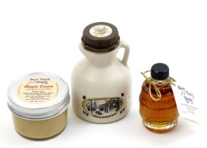 Boot Track Maple Gift Basket contents
