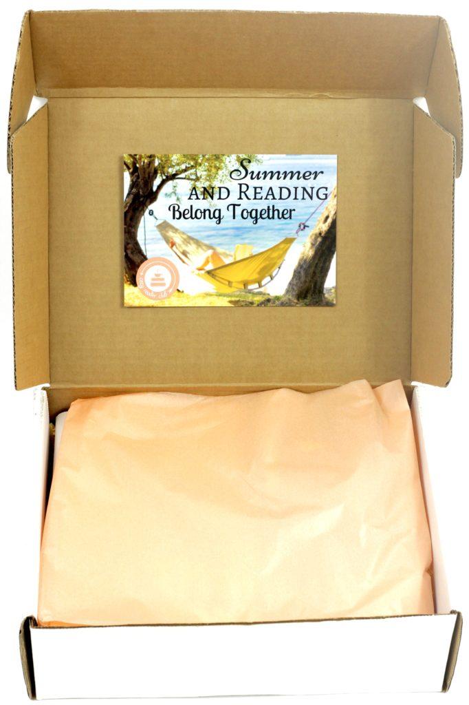 August 2016 Cozy Reader Club open box