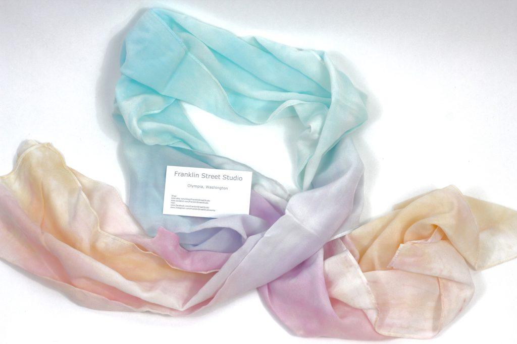 August 2016 Cozy Reader Club - Franklin Street Studio silk scarf