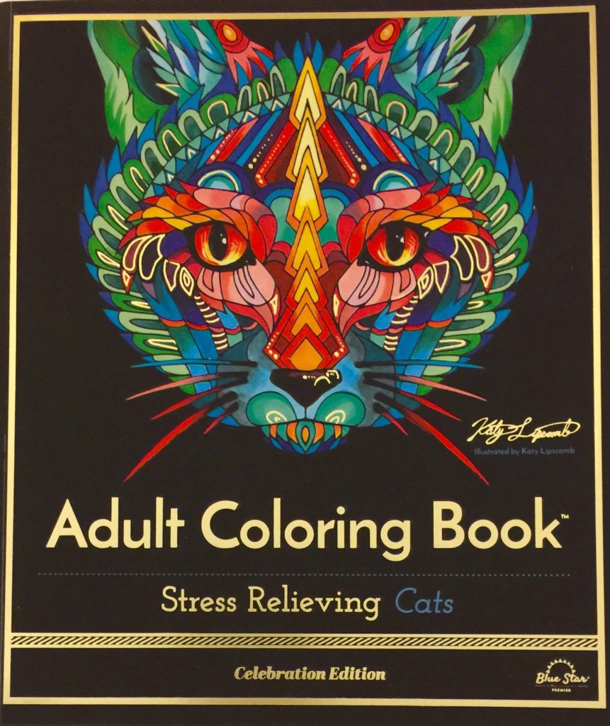 Stress relieving cats coloring - 2016 11 14 10 18 52 1 Blue Star Coloring Is Giving A Stress Relieving Cats Adult Coloring Book To One