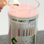 Cash Money Candle - lit