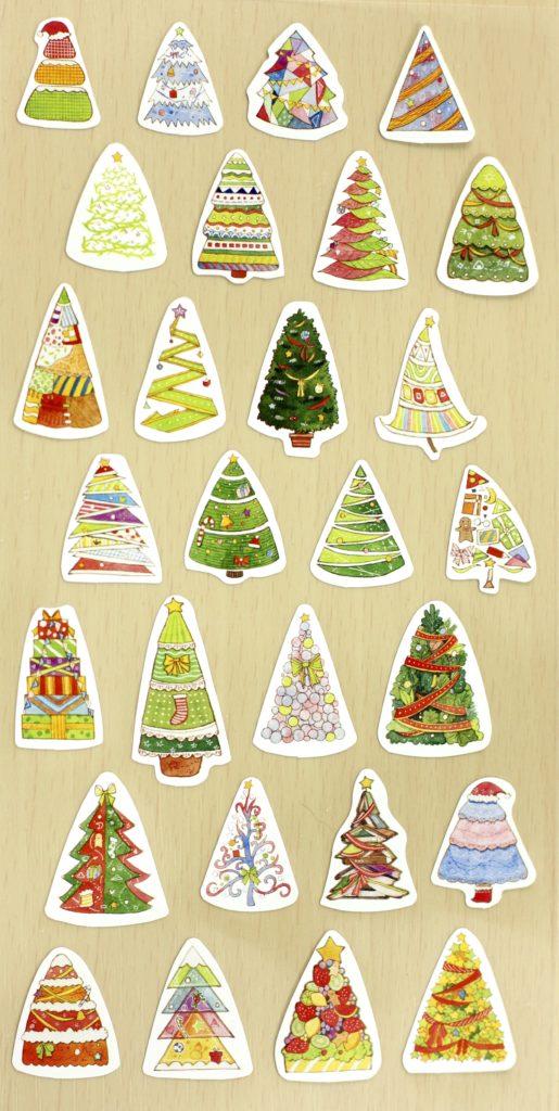 November 2016 Stickii Club Cute Pack tree stickers