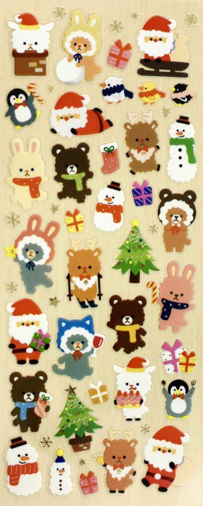 November 2016 Stickii Club Cute Pack Christmas animal stickers