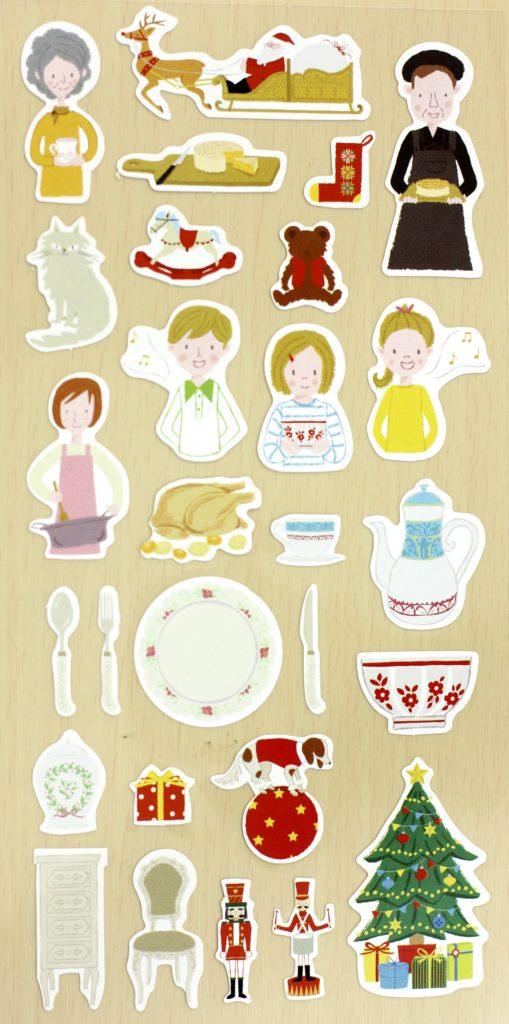 November 2016 Stickii Club Cute Pack Christmas family stickers