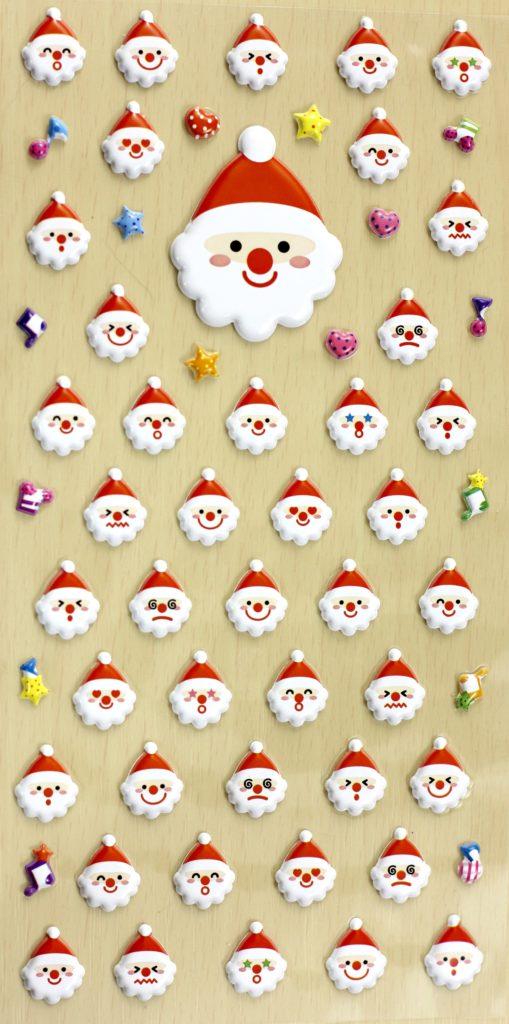 November 2016 Stickii Club Cute Pack puffy Santa stickers