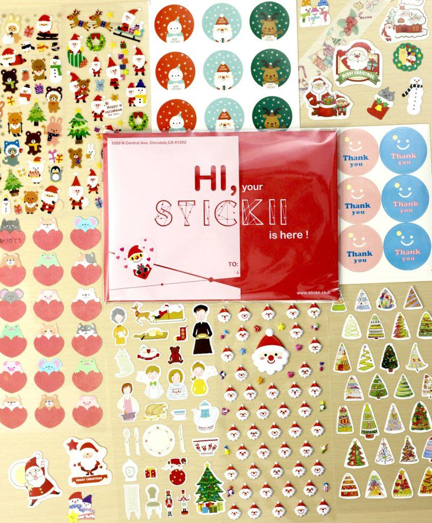 November 2016 Stickii Club Cute Pack display