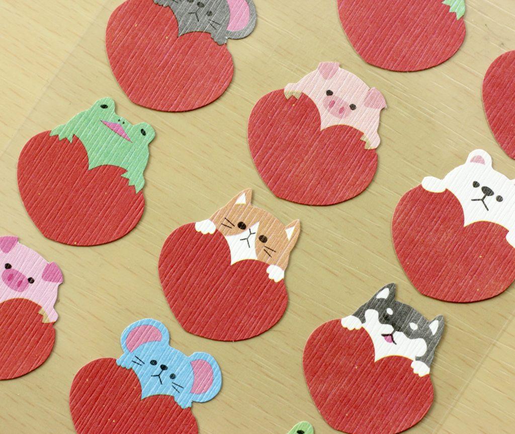 Stickii Club animal stickers close-up