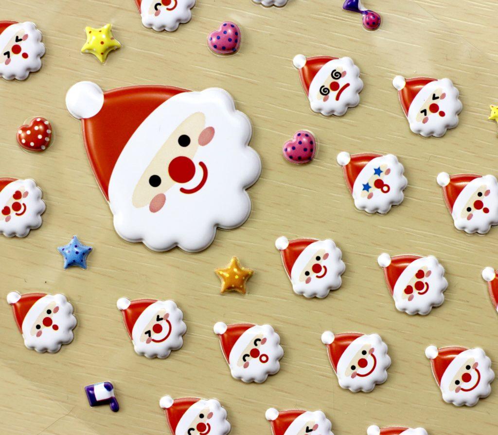 Stickii Club Cute Pack big santa puffy sticker close-up