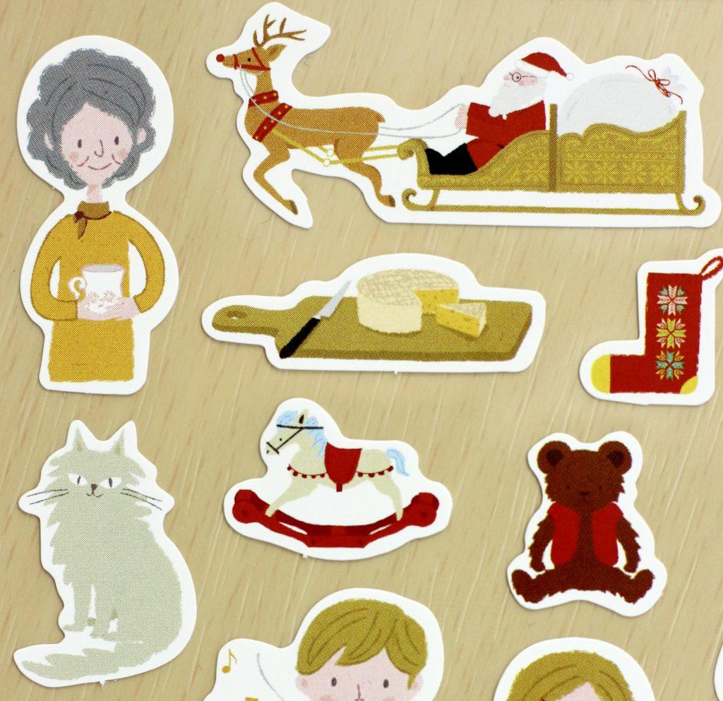 Stickii Club Cute Pack traditional Christmas sticker close-up