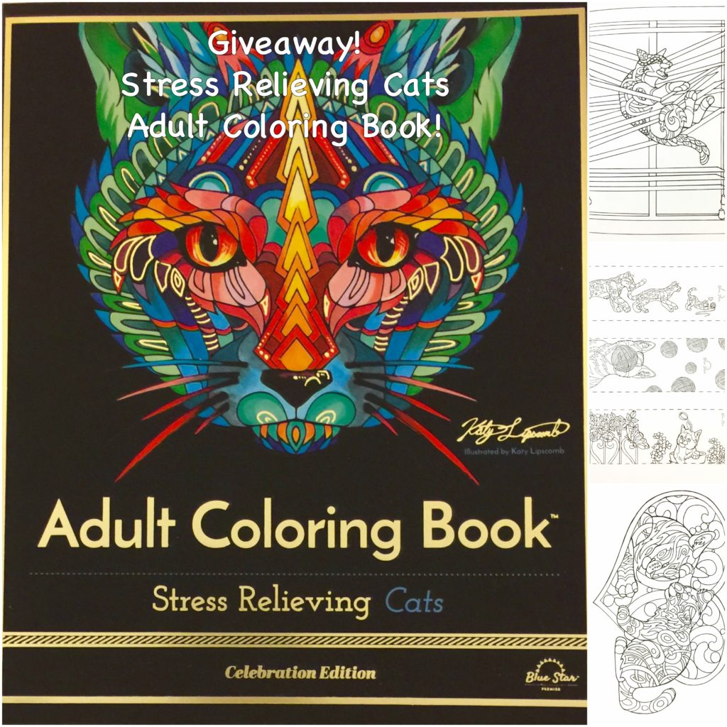 Stress relieving cats coloring - Stress Relieving Cats Collage
