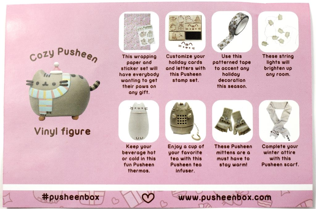 Pusheen Box Winter 2016 Subscription Box Review The