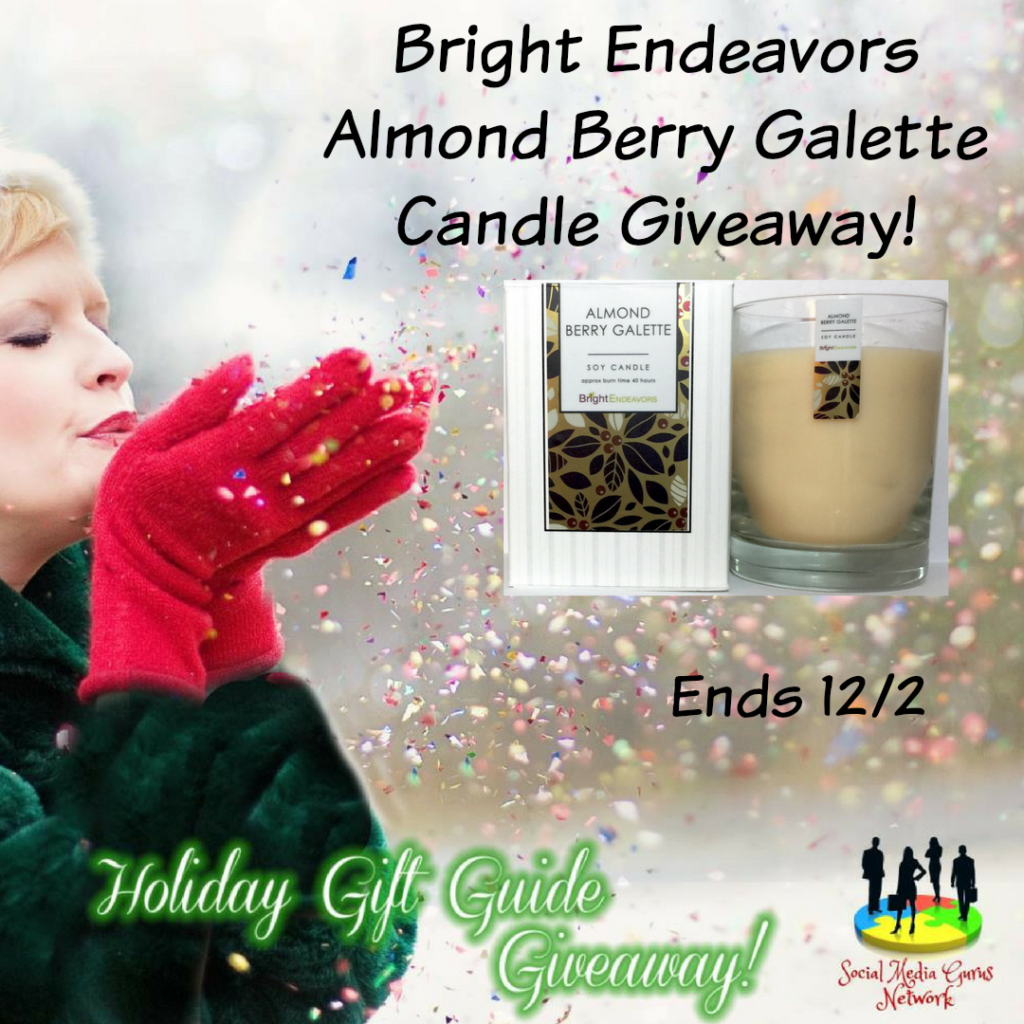 Enter the Bright Endeavors Almond Berry Galette Candle Giveaway. Ends 12/2